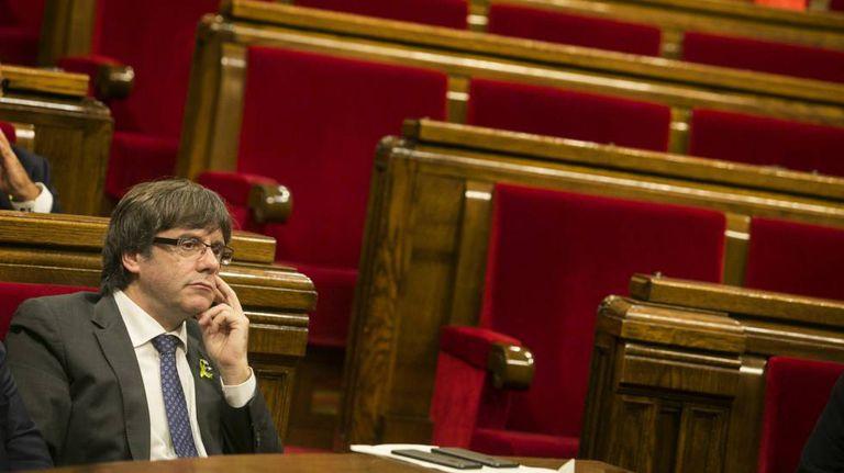 O presidente da Catalunha Carles Puigdemont.
