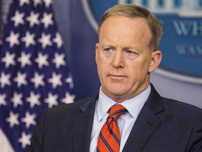 O porta-voz da Casa Branca, Sean Spicer, nesta terça-feira.