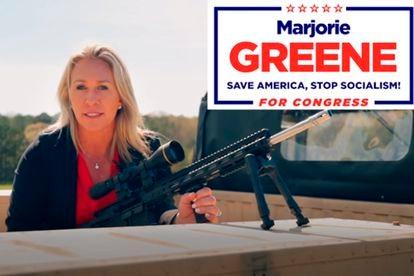 Marjorie Taylor Greene, apoiadora do QAnon, conquistou uma cadeira republicana na Geórgia.
