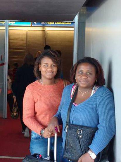 Lorraye e sua mãe Estela viajaram juntas para Copenhague.