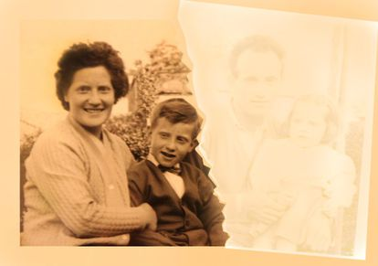 Família amputada: depois do amianto, restaram Romana e o filho Ottavio