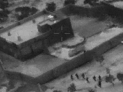 Imagem do vídeo publicado pelo Departamento de Estado dos EUA do momento da operação contra o líder do ISIS.