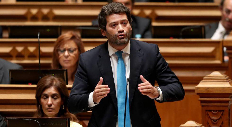 André Ventura, fundador do Chega, no Parlamento português.