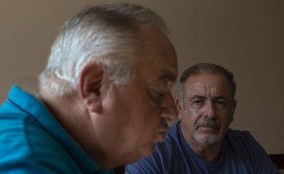 Jerominho e Natalino durante a entrevista.
