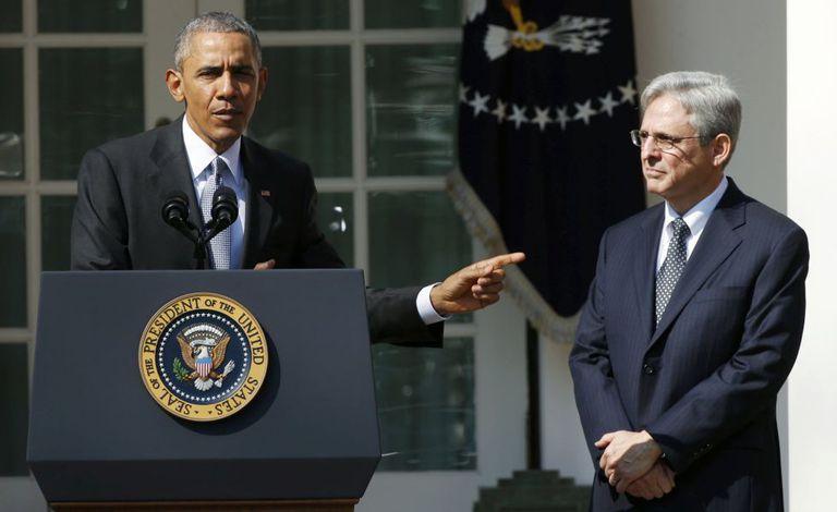 O presidente Barack Obama e o juiz Merrick Garland.