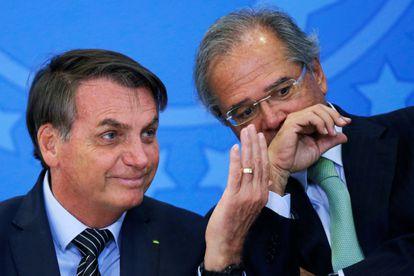 Bolsonaro e Guedes no dia 20 de fevereiro, em Brasília.