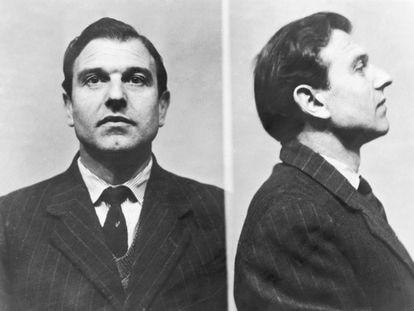 O agente duplo George Blake em fotos da prisão britânica de Wormwood Scrubs, onde passou cinco anos até fugir, em 1966, e ir para Moscou.