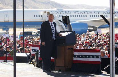 Trump em 20 de outubro, durante evento em Elko, Nevada.
