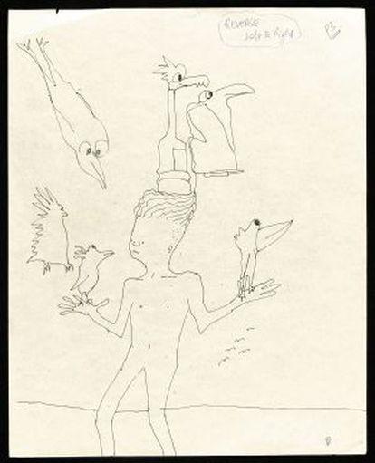 Ilustração feita pelo líder dos Beatles John Lennon.