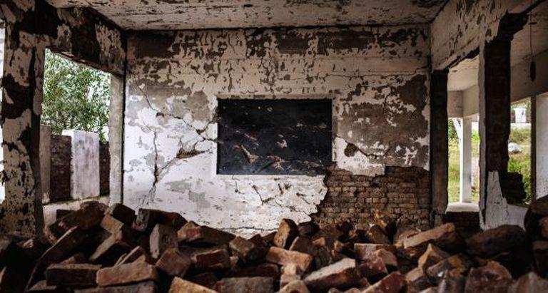 Destruição na escola Primary Government School Kadi.