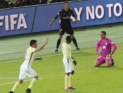 Cristiano comemora gol no Mundial.