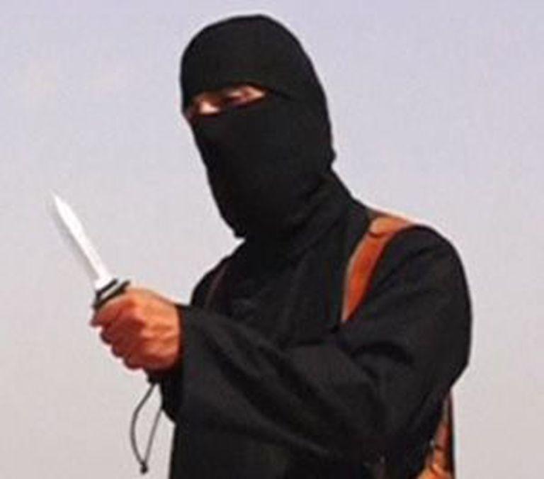 O carrasco de Foley, na imagem de vídeo da execução difundida pelos jihadistas.