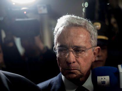 O ex-presidente colombiano Álvaro Uribe em foto de 8 de novembro de 2019.