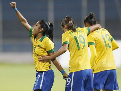 Jogadoras da seleção brasileira.
