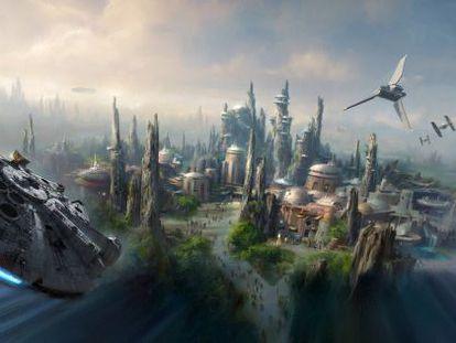 Maquete do novo parque da Disney.