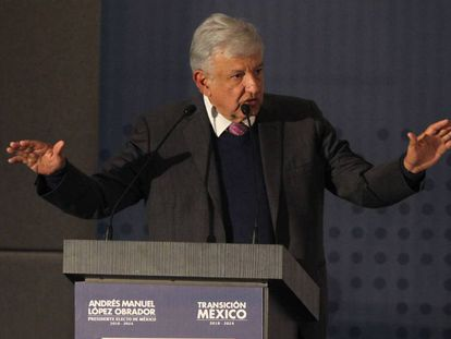 López Obrador, durante o anúncio do plano de segurança. Em vídeo, o anúncio de López Obrador na apresentação do plano de segurança.