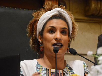 A vereadora do Rio Marielle Franco (PSOL), assassinada nesta quarta-feira, 14 de março.