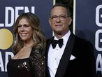 77th Golden Globe Awards - Arrivals - Beverly Hills, California, U.S., January 5, 2020 - Rita Wilson and Tom Hanks. REUTERS/Mario Anzuoni