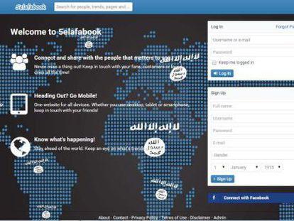 Página da rede jihadista 5elafabook.