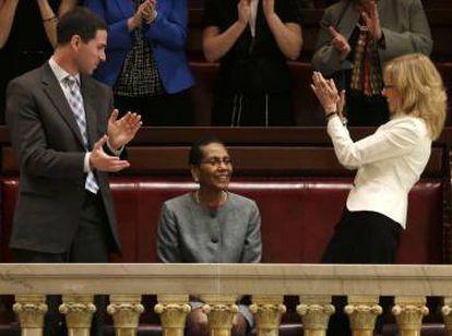 heila Abdus-Salaam ao ser nomeada na Corte de Apelações de Nova York, em 2013.