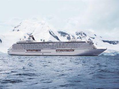 A mudança climática permite que um grande cruzeiro turístico navegue pela primeira vez através da Passagem Noroeste