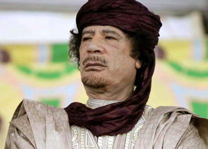 Muamar al Kadafi em outubro de 2009.