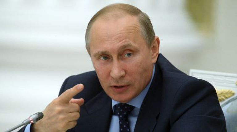 O presidente russo, ontem em Moscou.