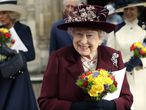 FILE - In this Monday, March 12, 2018 file photo, Britain's Queen Elizabeth II leaves after attending the Commonwealth Service at Westminster Abbey in London. Now that the Royal Family has said farewell to Prince Philip, attention will turn to Queen Elizabeth II's 95th birthday on Wednesday, April 21, 2021 and, in coming months, the celebrations marking her 70 years on the throne. This combination of events is reminding the United Kingdom that the reign of the queen, the only monarch most of her subjects have ever known, is finite. (AP Photo/Kirsty Wigglesworth, file)