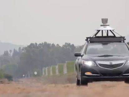 Um Honda testado a 50 quilômetros de São Francisco.