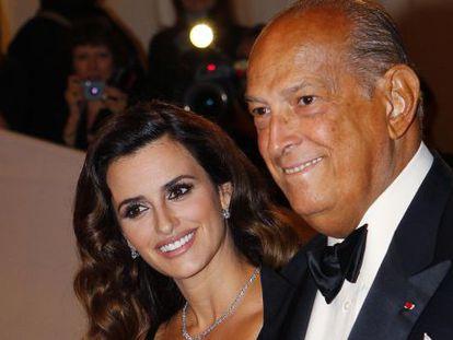 Penélope Cruz e Oscar de la Renta em NY, em 2011.