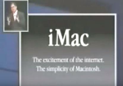 Imagem de um dos slides da apresentação de 1998 de Steve Jobs que pode ser assistida no YouTube.