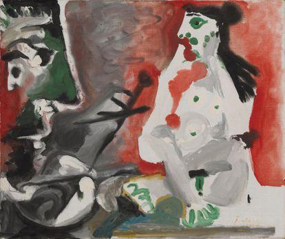 'Le peintre et son modèle', de Pablo Picasso (1964).