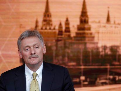 O porta-voz do Kremlin, Dmitri Peskov, em Moscou em 2019.