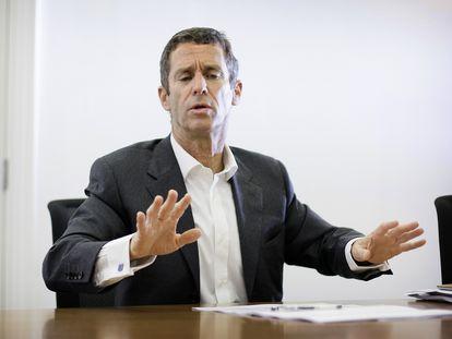 O magnata israelense Beny Steinmetz, em 22 de janeiro, quando foi condenado em Genebra por corrupção.