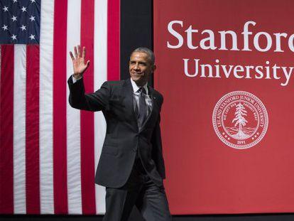Obama, em sua intervenção na Universidade de Stanford.