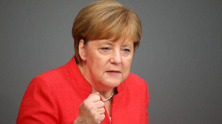 A chanceler alemã, Angela Merkel, nesta quarta-feira em Berlim