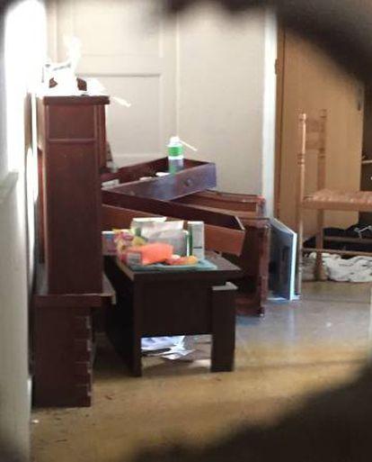 Interior do apartamento onde vivia Mohamed Lahouaiej Bouhlel em Nce.