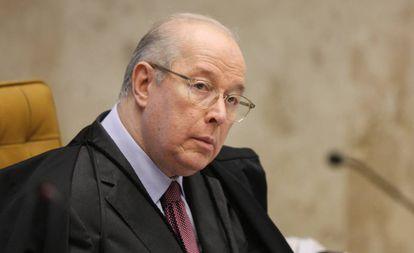 Ministro Celso de Mello, relator de uma das ações que pedem a criminalização da homofobia, na sessão extraordinária nesta quinta-feira.