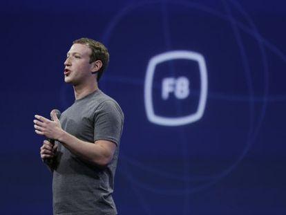 Mark Zuckerberg na conferência de desenvolvedores do Facebook.