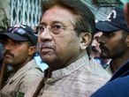 El expresidente Pervez Musharraf llega a un tribunal de Islamabad, en abril de 2013.