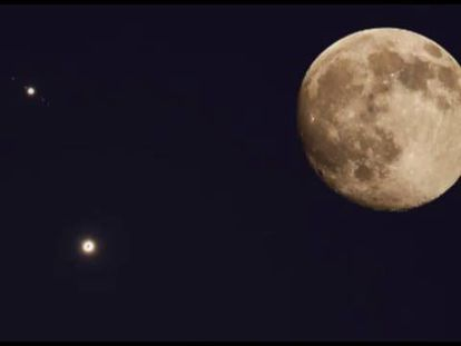 Júpiter e Vênus, juntinhos