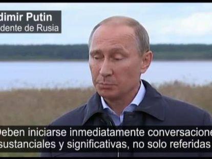 Putin pede a Poroshenko para reatar as conversas.