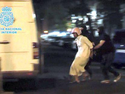 Prisão de jihadistas nesta quarta-feira em Madri.