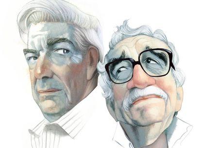 Mario Vargas Llosa e Gabriel García Márquez, vistos por Fernando Vicente.