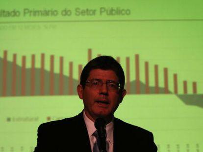 Joaquim Levy anuncia redução da meta fiscal para 2015.
