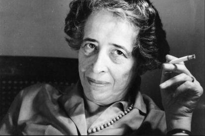A filósofa Hannah Arendt