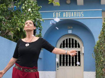 Sonia Braga e o edifício Aquarius, os grandes protagonistas. Em vídeo, trailer