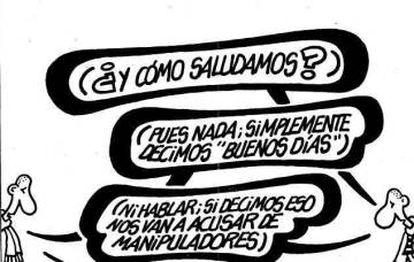 Primeira charge publicada pelo Forges no EL PAÍS em junho de 1995.