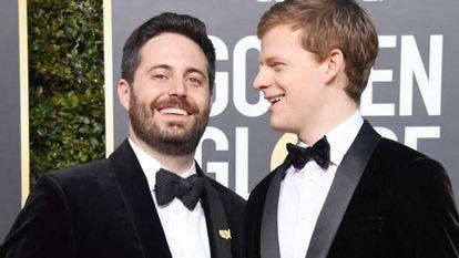 Garrard Conley e Lucas Hedges (o ator que o interpreta no filme) na última edição do Globo de Ouro