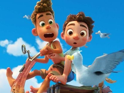 Uma imagem do filme 'Luca', da Pixar.